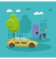 Taxi service company concept banner People vector image vector image