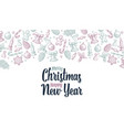 template for merry christmas happy new year vector image vector image