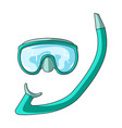 the mask and snorkel for divingsummer rest single vector image