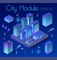 ultraviolet isometric city vector image vector image