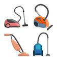 vacuum cleaner icon set cartoon style vector image