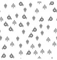 various jewelry ornaments seamless pattern vector image vector image