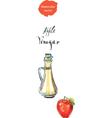 vinegar vector image vector image