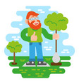 volunteer keep green tree vector image