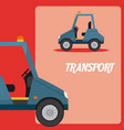 warehouse cart transport vehicle vector image