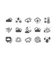weather and forecast icons cloudy sky winter vector image vector image