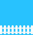 white fence garden simple template vector image
