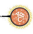 woodcut alphabet soup vector image vector image