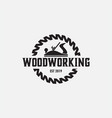 woodworking logo design template isolated vector image vector image