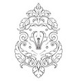 wrought-iron escutcheon strap-work tablet was of vector image vector image