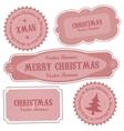 christmas retro design labels vector image