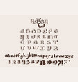 hand drawn english alphabet letters vector image