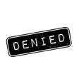 Denied rubber stamp vector image