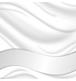 Elegant silk texture with wavy silver ribbon vector image