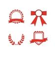 Red award labels set vector image