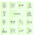 14 strong icons vector image vector image