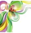 Abstract love theme colourful festive background vector image