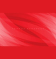 abstract white curve overlap on red design vector image vector image