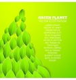 Background with green flower vector image vector image
