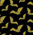 Bat pattern vector image vector image