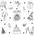 Birthday element doodle vector image vector image
