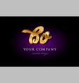 bo b o 3d gold golden alphabet letter metal logo