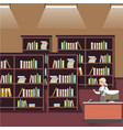 bookshelf in shop vector image