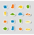 Breakfast icon sticker vector image