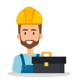 builder with toolbox avatar vector image