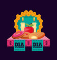 candles to decorate in day of the dead vector image vector image