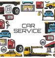 car repair and service vector image vector image