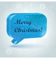 christmas speech bubbles vector image vector image