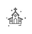 church christian holey cross icon design vector image