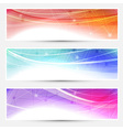 Collection web headers footers connection vector image vector image