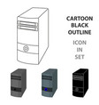 computer case icon in cartoon style isolated on vector image