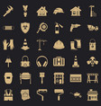 construction production icons set simple style vector image vector image