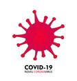 covid19-19 coronavirus concept inscription vector image vector image