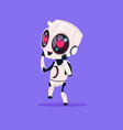 cute robot with heart shape eyes isolated icon on vector image vector image