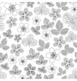 dewberry blooming-flowers in bloom seamless repeat vector image