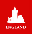 england castle silhouette isolated on traditional vector image