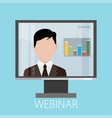 flat design colorful concept for webinar online vector image