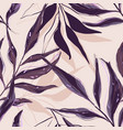 floral palm leaves pattern tropical summer exotic vector image