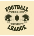 Football Sport Typography t-shirt vector image vector image