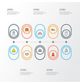 garment icons colored line set with briefs pants vector image vector image