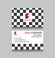 geometric business name card vector image vector image