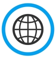Globe Flat Rounded Icon vector image