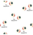 halloween pattern with scary eyes on white vector image