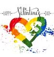 Hand-drawn rainbow heart vector image