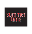 hand drawn typographic design summer time vector image vector image