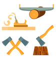 hand-held quipment for forest destruction isolated vector image